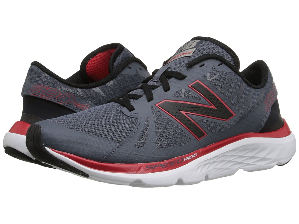New Balance - 690v4 (Thunder/Red) Men's Running Shoes