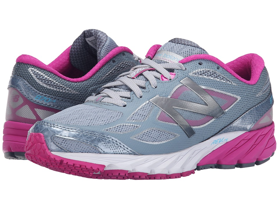 New Balance - 870v4 (Grey/Purple) Women's Running Shoes