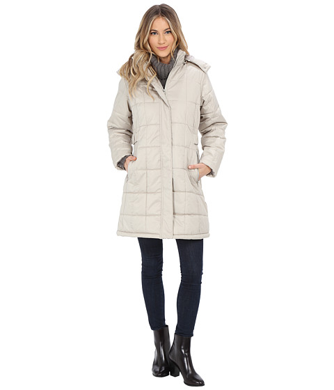 KC Collections - Box Quilt Puffer (Wheat) Women's Coat