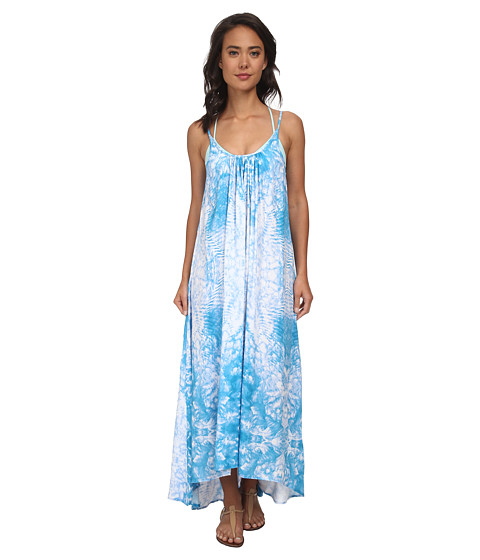 MIKOH SWIMWEAR - Biarritz Scoop Neck with Low Back Maxi Dress Cover-Up (Whitewater Oceanic) Women