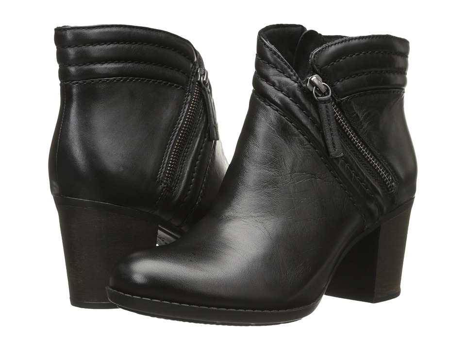 Clarks - Enfield Ellen (Black Leather) Women's Boots