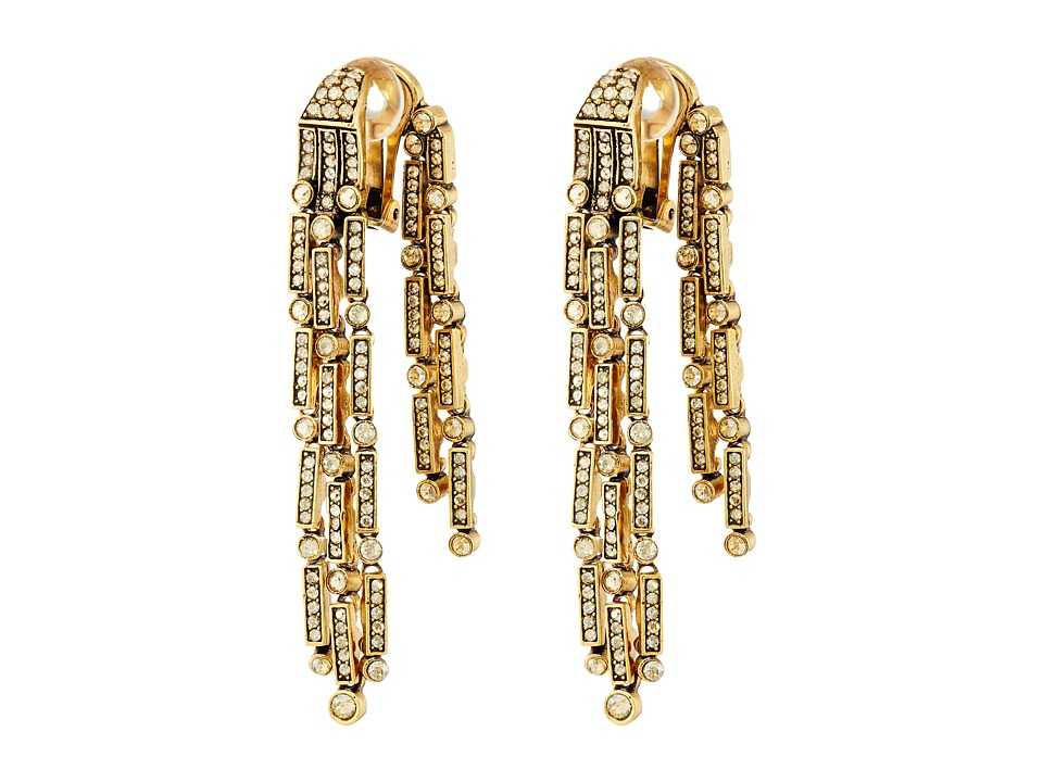 Oscar de la Renta - Dangling Earrings (Cry Gold Shadow) Earring