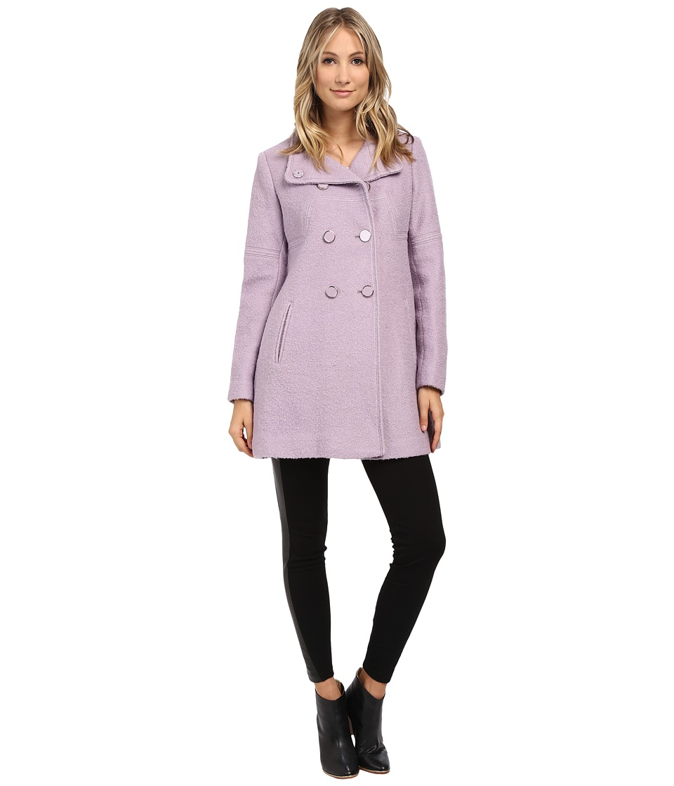 Jessica Simpson - Mod Seams Boucle Double Breasted (Lilac) Women's Coat