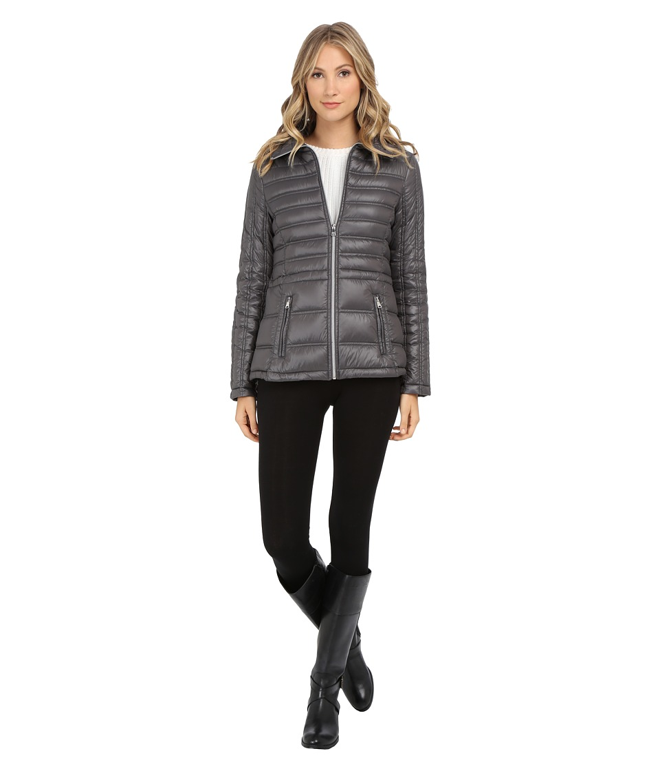 Jessica Simpson - Anorak Packable Down (Charcoal) Women's Coat