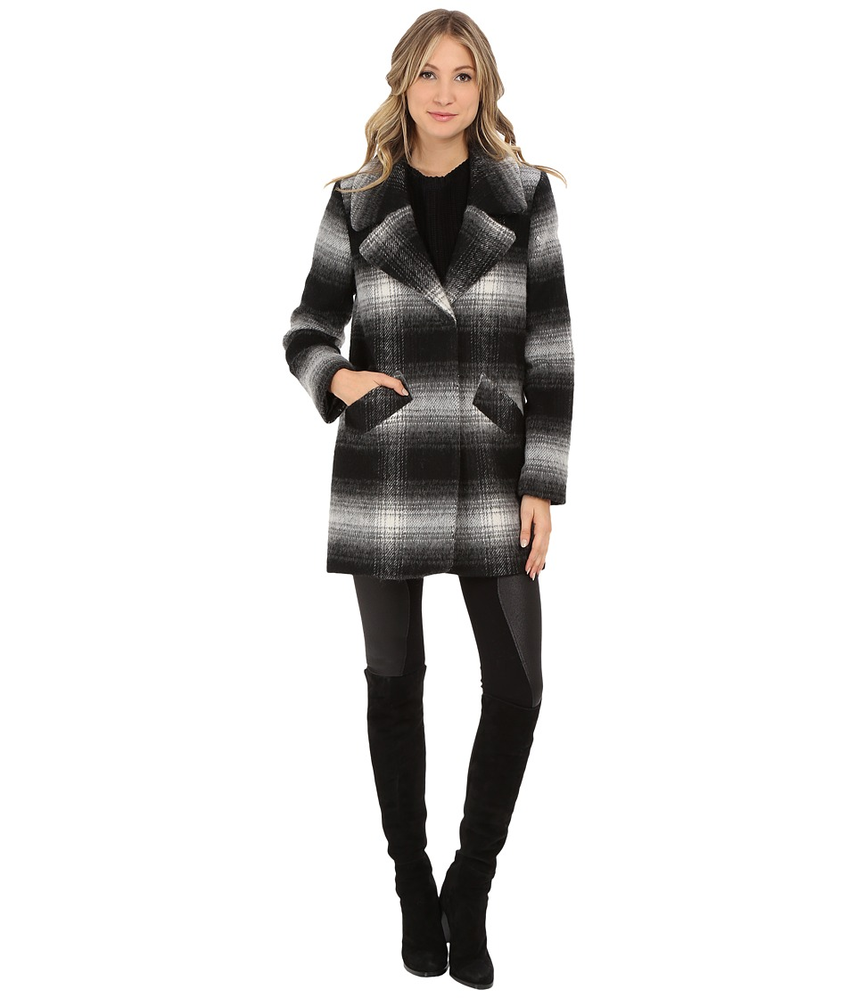 Jessica Simpson - Brushed Wool Blazer Coat (Black/White) Women