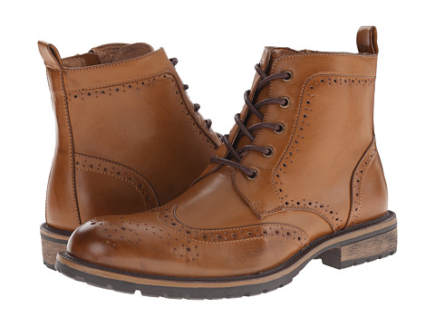 Steve Madden - Swing (Cognac) Men's Lace-up Boots