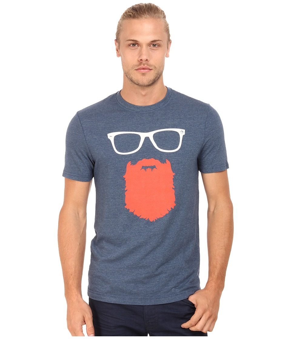 Original Penguin - Beard N' Specs Heritage Tee (Dark Denim) Men's T Shirt