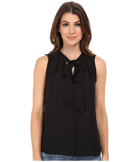 ONLY - Swan Tie Solid Shirt (Black) Women