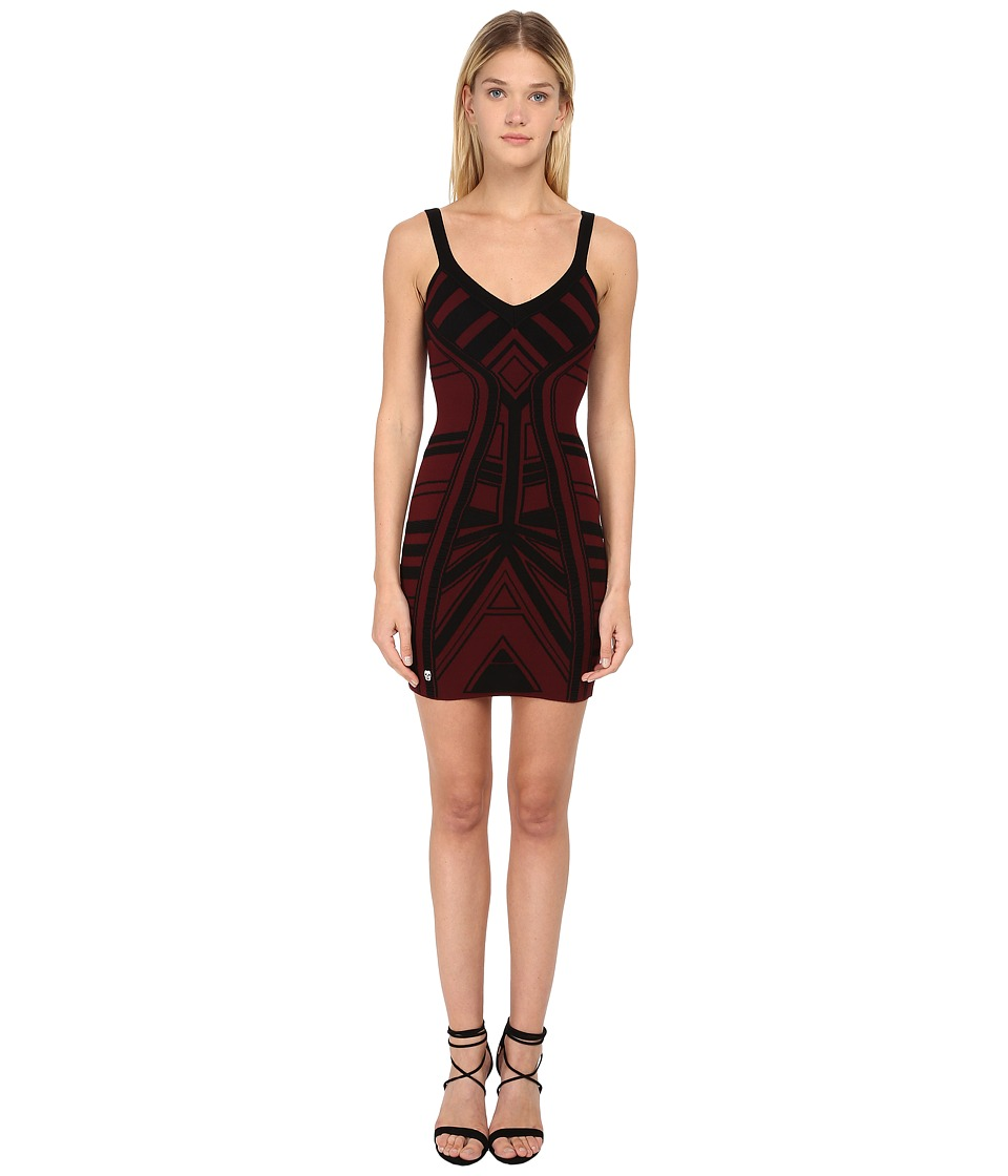 Philipp Plein - Short Dress (Bordeaux) Women's Dress