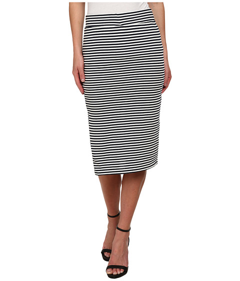 ONLY - Therese Knee Stripe Skirt (Navy Blazer/Cloud Dancer Stripes) Women's Skirt
