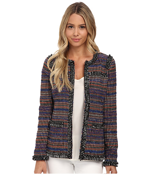 Rachel Zoe - Henri Front Pocket Fringed Jacket (Multi) Women's Coat