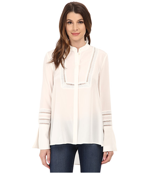 Rachel Zoe - Virginia Baby Collar Hidden Blouse (Pure White) Women's Blouse