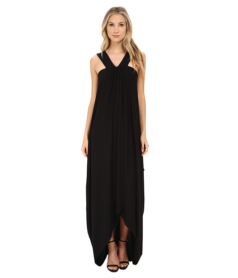 Rachel Zoe - Sylvi Side Drape Maxi Dress (Black) Women's Dress