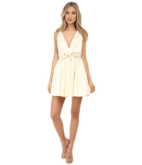 Rachel Zoe - Beck Sleeveless Tie Waist Dress (Ivory) Women's Dress