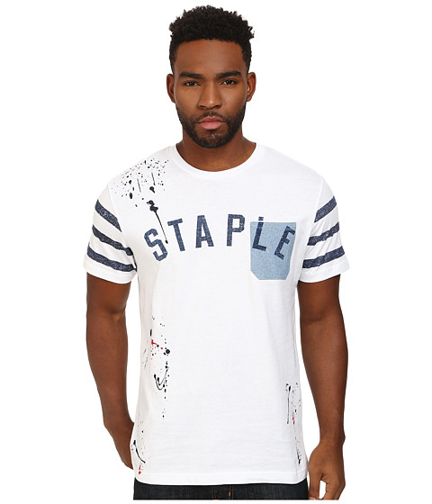 Staple - Sport Pocket Tee (White) Men's T Shirt