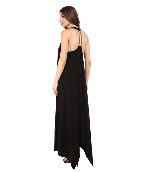 Rachel Zoe - Athena Back Halter Maxi Dress (Black) Women's Dress