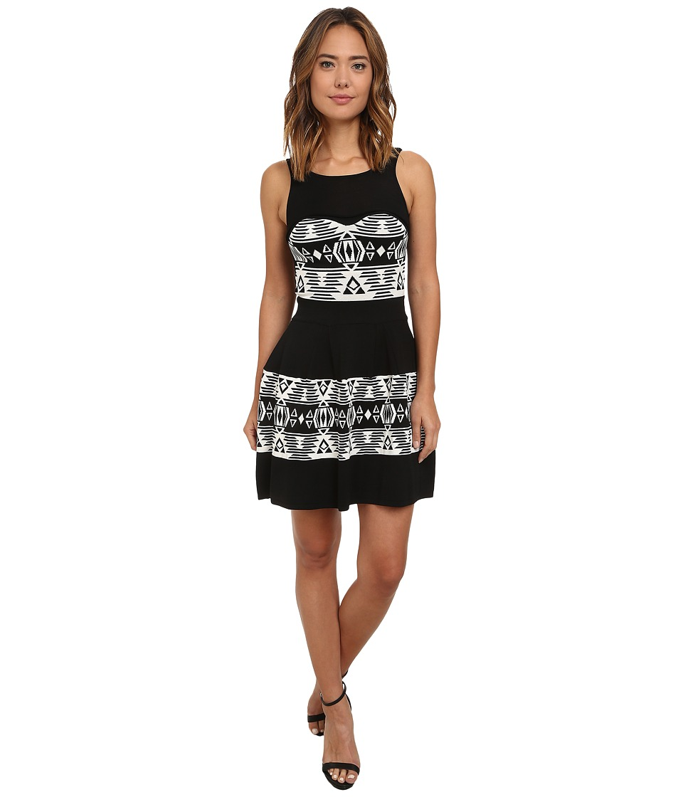 Sam Edelman Perry Jacquard Dress (Black/Ivory) Women