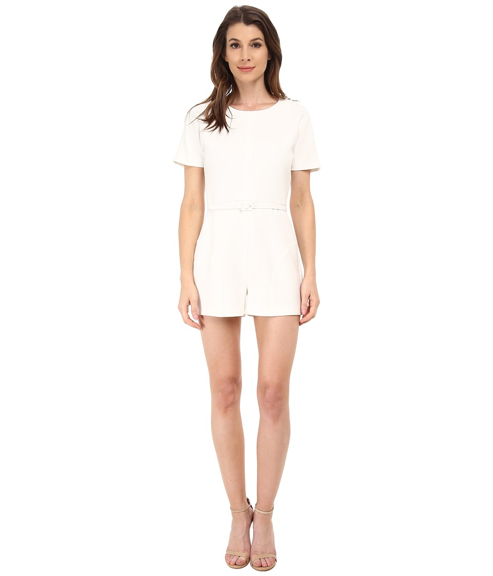 Rachel Zoe - Delaney Curved Seam Romper (Pure White) Women's Jumpsuit & Rompers One Piece