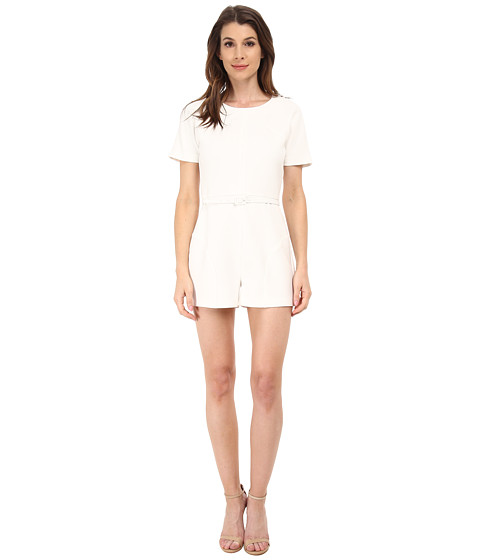 Rachel Zoe - Delaney Curved Seam Romper (Pure White) Women