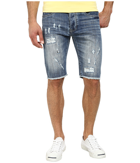 Staple - Broken Shorts in Dark Stone Wash (Dark Stone Wash) Men