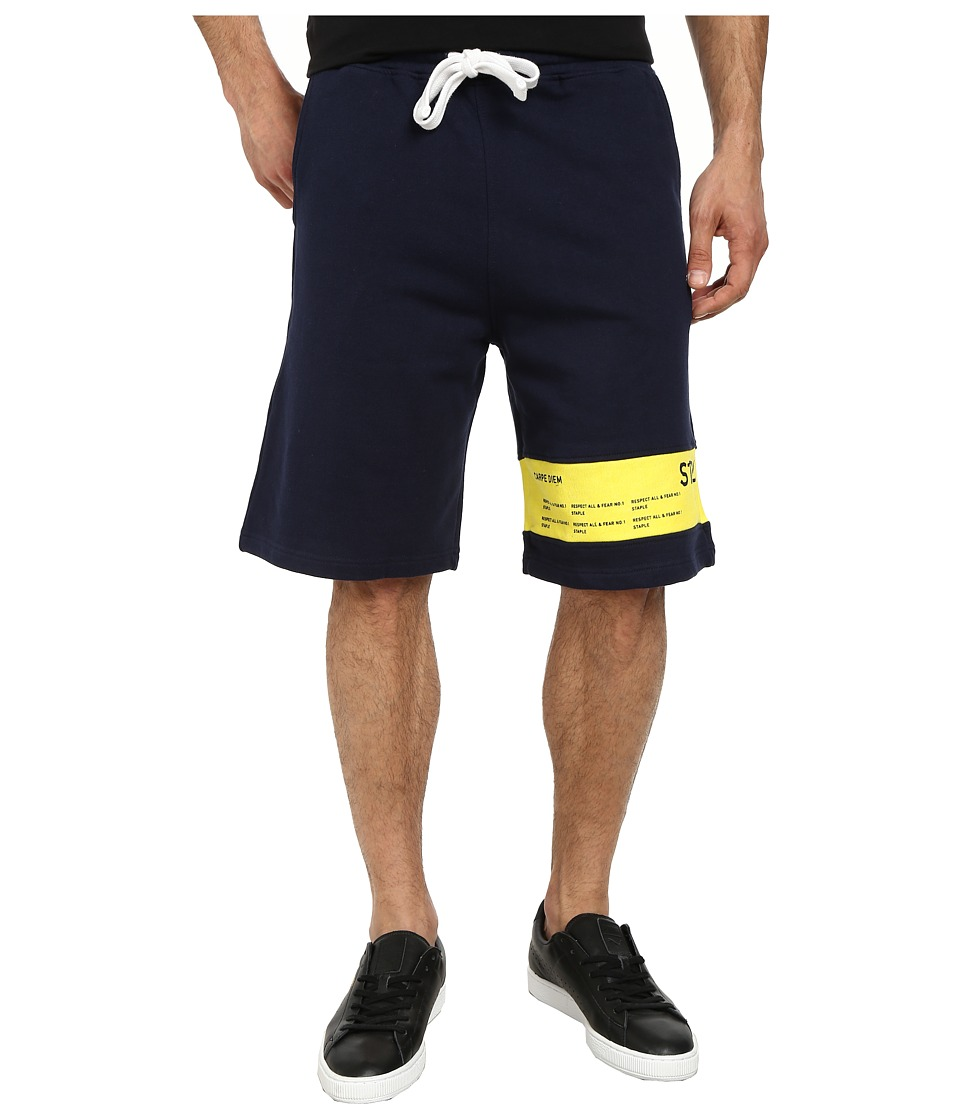 Staple - Surrender Shorts (Navy) Men's Shorts