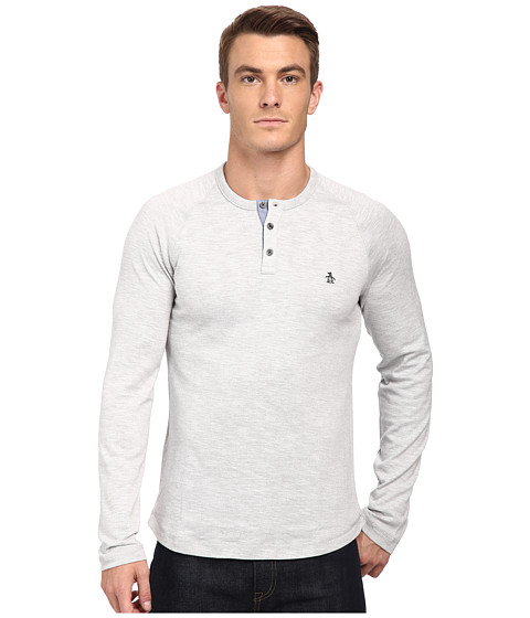 Original Penguin - Flecked CVC Slub Henley (Griffin) Men