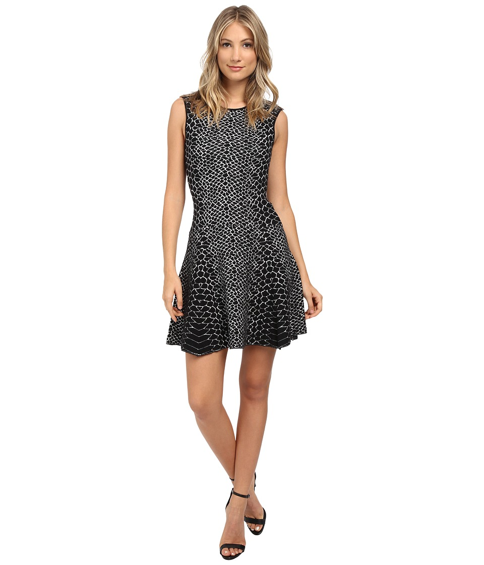 Sam Edelman Selby Jacquard Dress (Black/White) Women