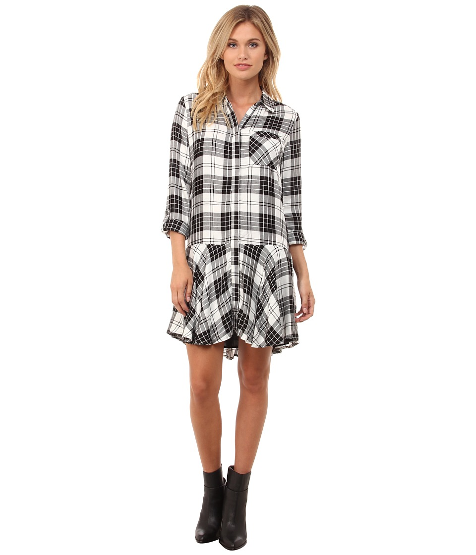 Sam Edelman - Sophie Plaid Shirtdress (Black/White) Women's Dress