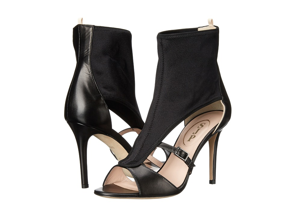 SJP by Sarah Jessica Parker - Walsh (Black Leather/Lycra) Women's Sandals