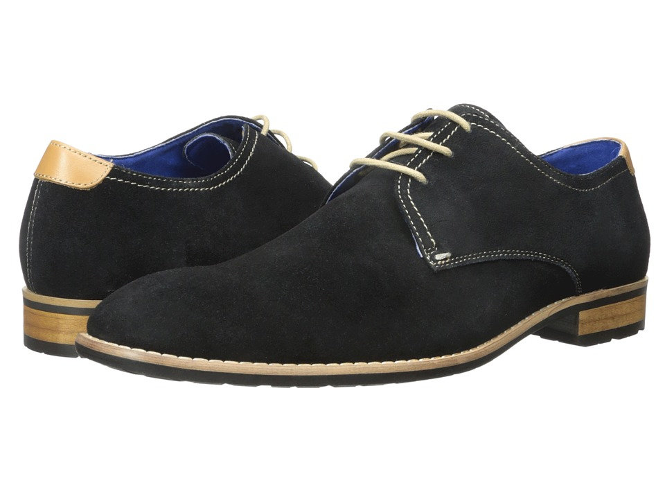 Steve Madden - Elvess1 (Extended Sizes) (Black Suede) Men's Lace up casual Shoes