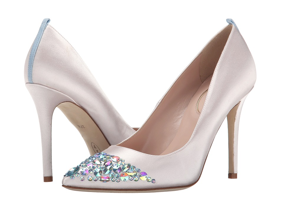 SJP by Sarah Jessica Parker - Victoria (Moonstone Satin) Women's Shoes
