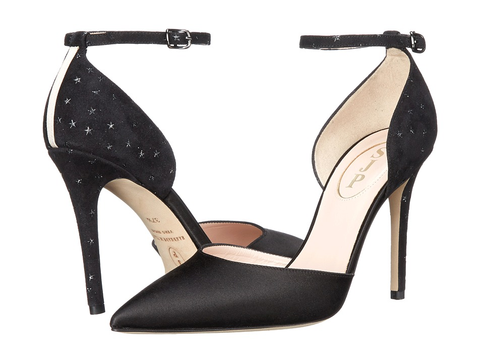 SJP by Sarah Jessica Parker - Bella (Black/Galileo Satin) Women's Shoes