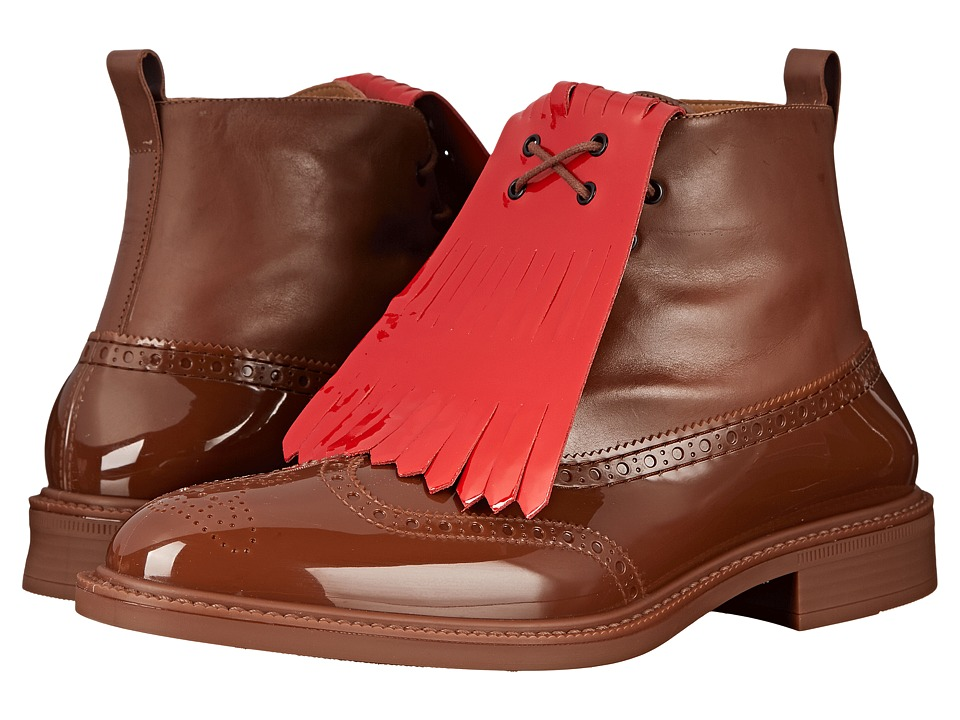 Vivienne Westwood - Boot Brogue with Kiltie (Nut Brown) Men's Lace-up Boots