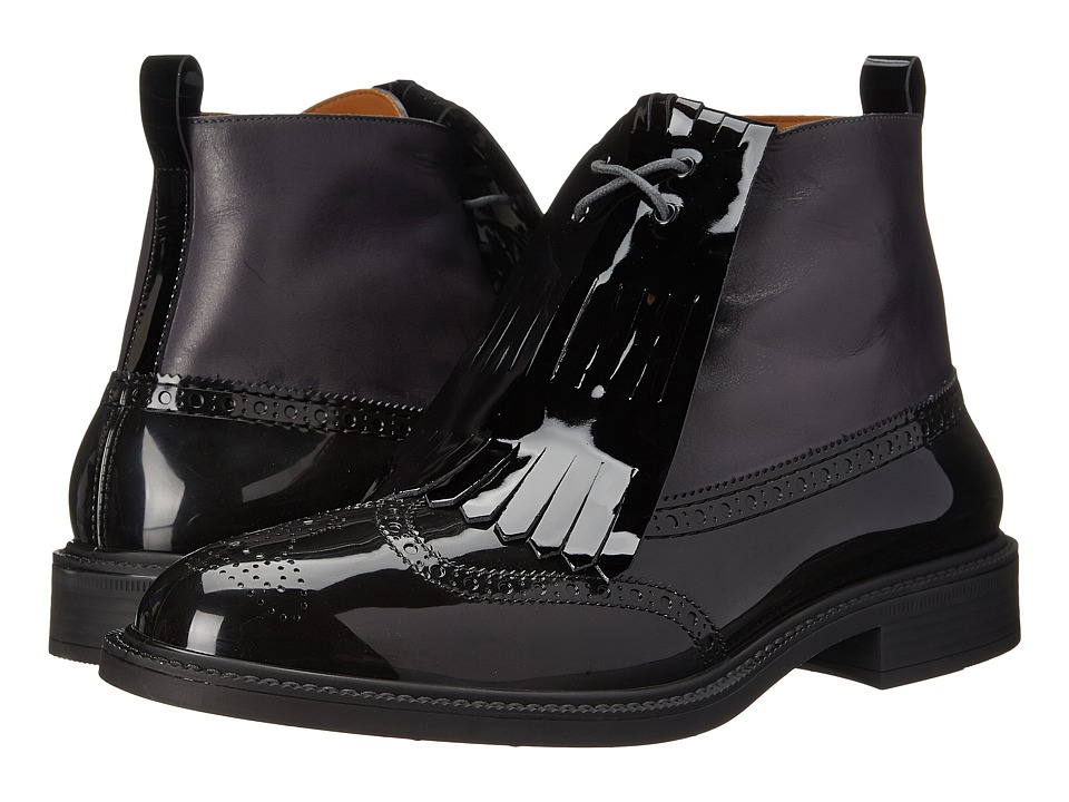 Vivienne Westwood - Boot Brogue with Kiltie (Black) Men's Lace-up Boots