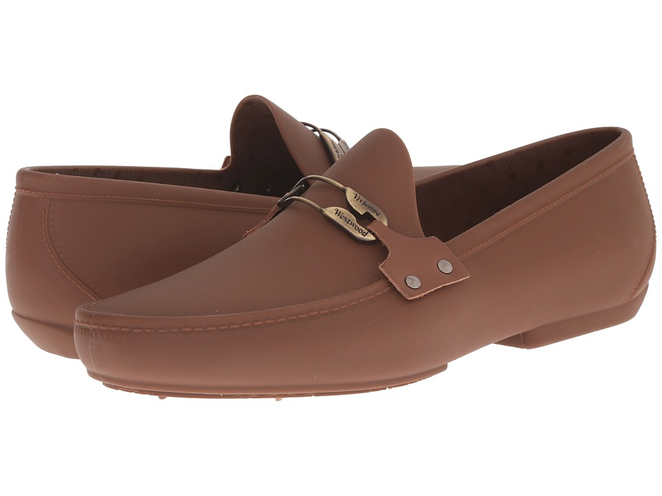 Vivienne Westwood - Safety Pin Moccasin (Nut Brown) Men's Slip on Shoes