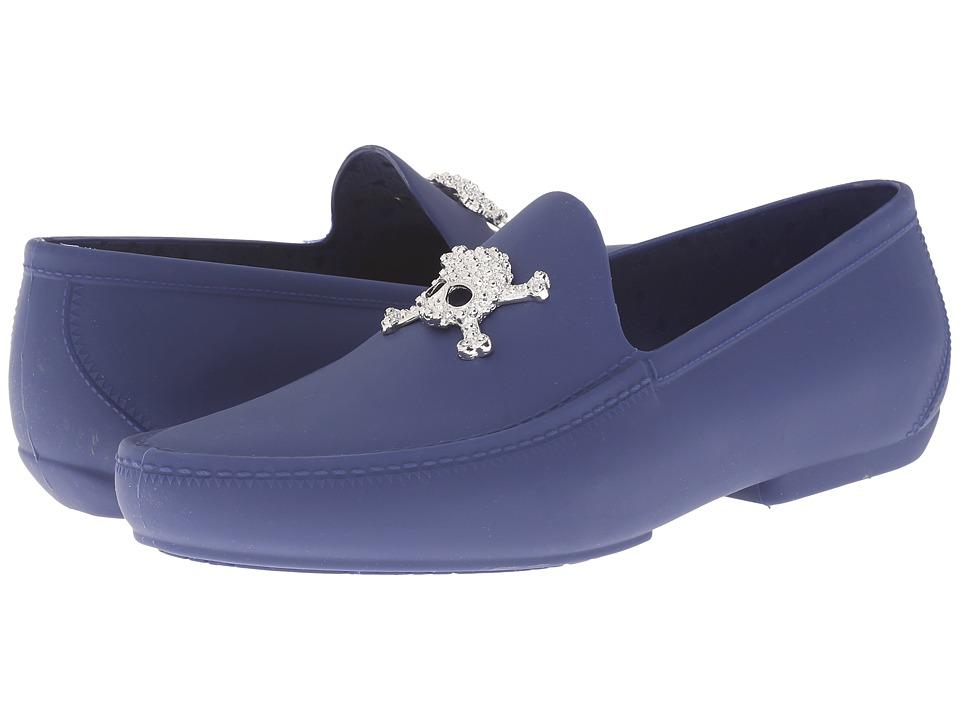 Vivienne Westwood - Skull Moccasin (Cobalt Blue) Men's Slip on Shoes