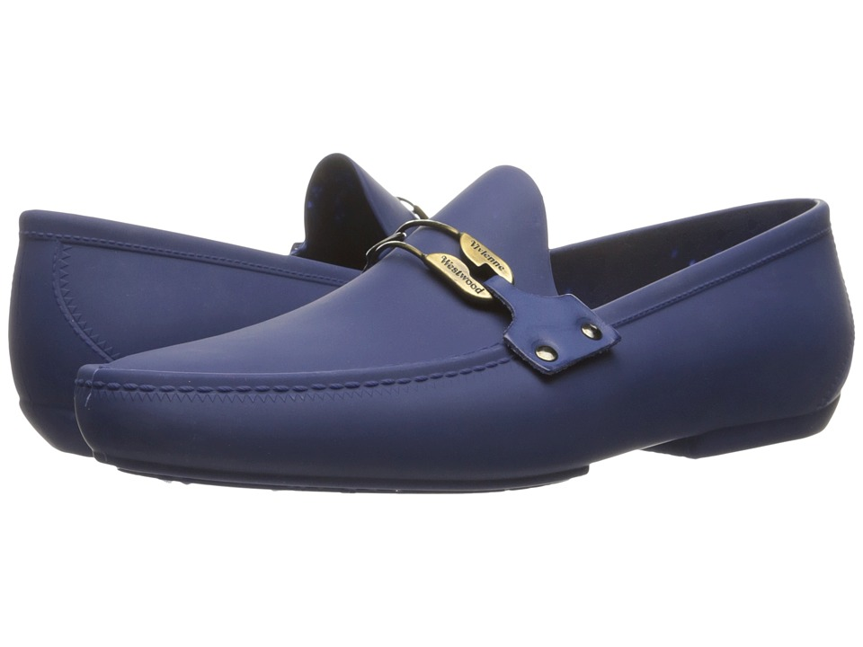 Vivienne Westwood - Safety Pin Moccasin (Cobalt Blue) Men's Slip on Shoes