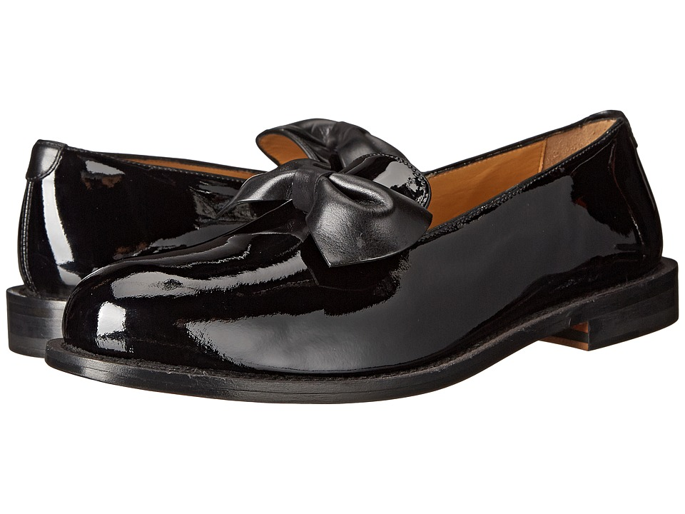 Vivienne Westwood - Utility Slip-On with Bow (Patent Black) Men's Slip on Shoes