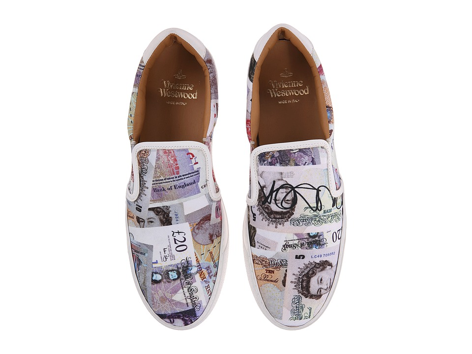 Vivienne Westwood - Tennis Slip-On (Money Print) Men's Slip on Shoes
