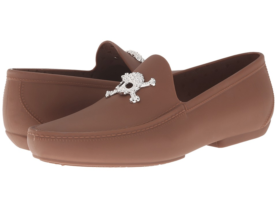 Vivienne Westwood - Skull Moccasin (Nut Brown) Men's Slip on Shoes