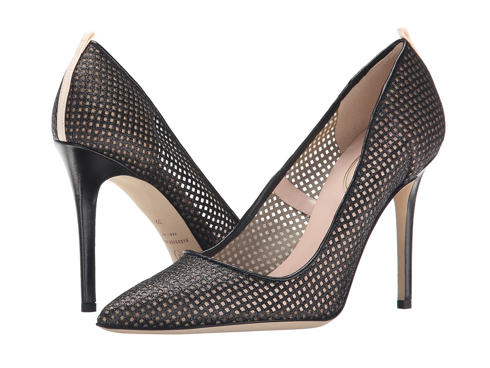 SJP by Sarah Jessica Parker - Fishnet Fawn (Black Mesh Glow) Women's Shoes