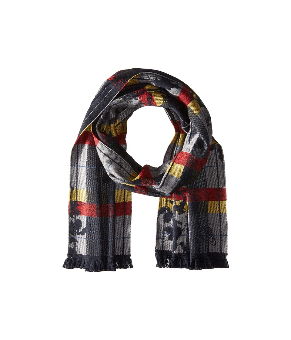 Vivienne Westwood - Scarf 36 x 180 (Grey/Yellow) Scarves