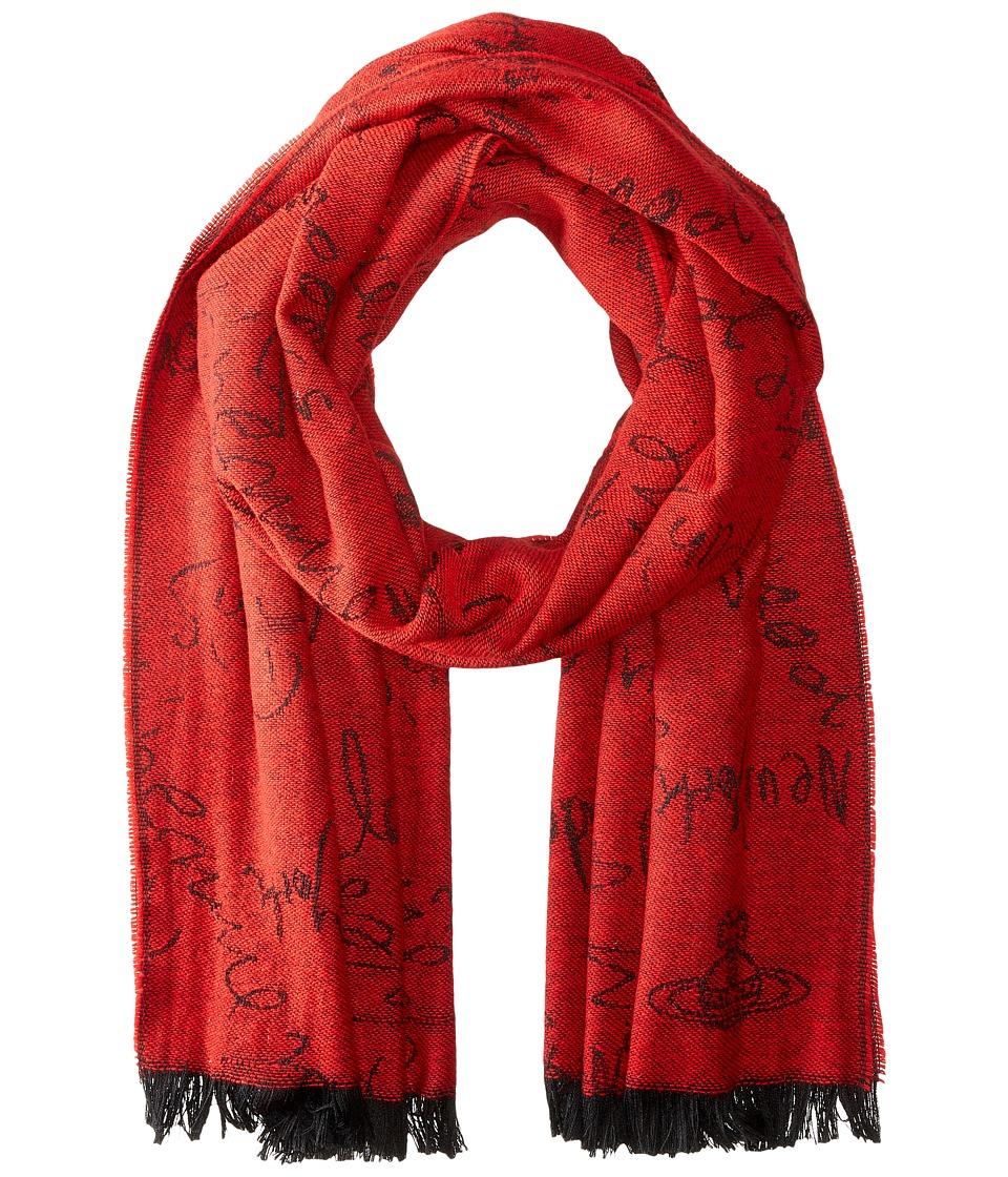 Vivienne Westwood - Scarf 70 x 200 (Red) Scarves