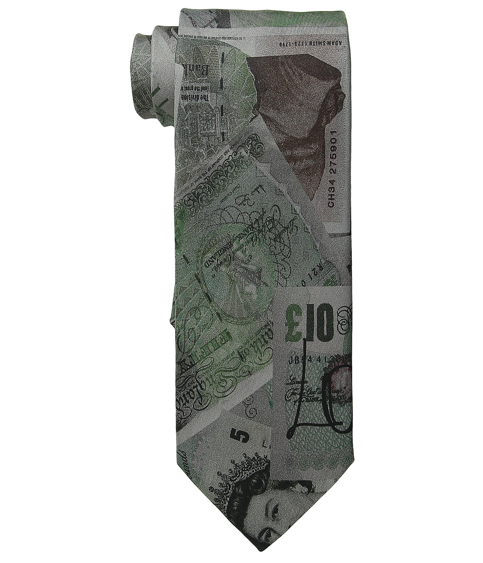 Vivienne Westwood - Money Print Tie (Grey/Green) Ties