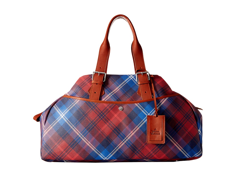 Vivienne Westwood - Abstract Orbs Weekender (Cuoio) Weekender/Overnight Luggage