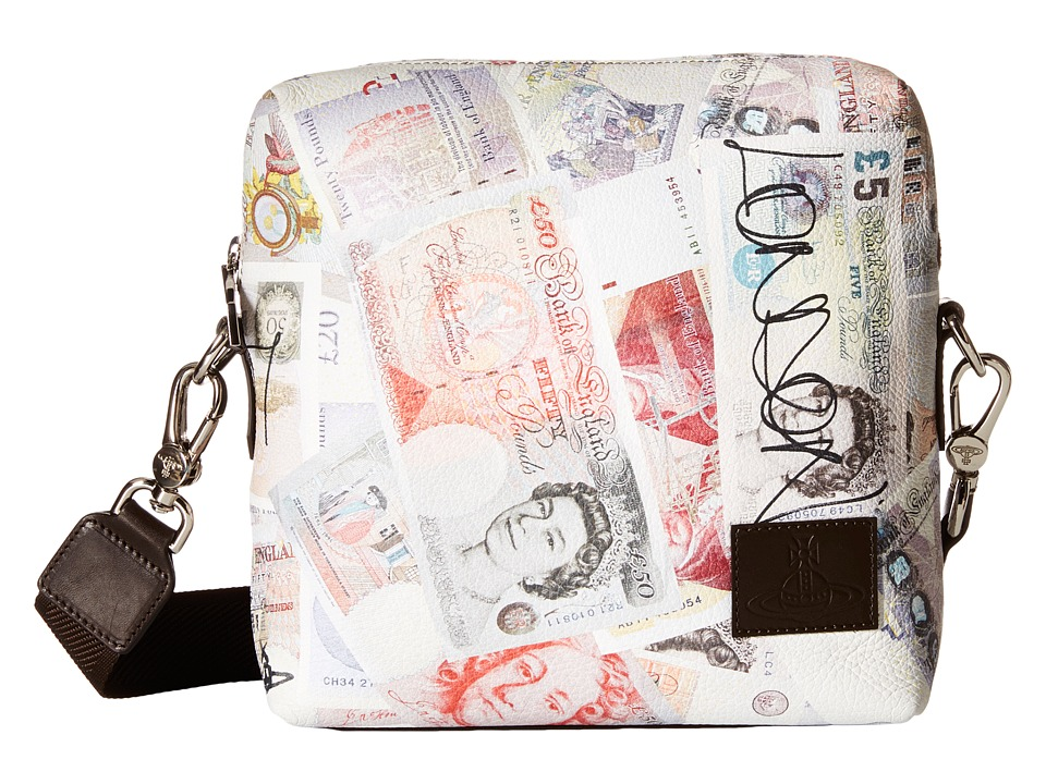 Vivienne Westwood - Money Print Small Bag (White Multi) Cross Body Handbags