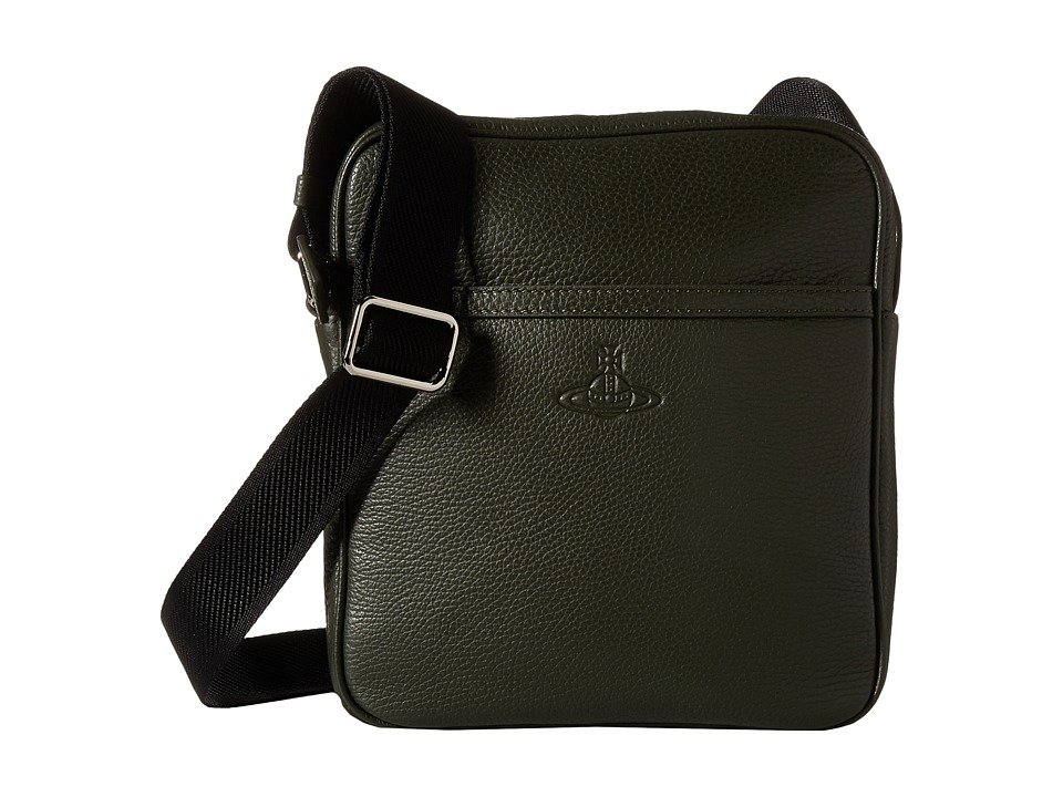 Vivienne Westwood - Leather Small Bag (Green) Messenger Bags