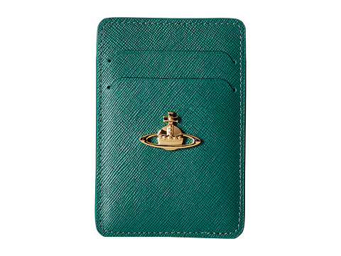 Vivienne Westwood - Saffiano Card Holder (Green) Coin Purse