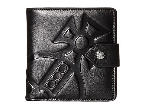 Vivienne Westwood - Giant Orbs Snap Button Wallet (Black) Wallet Handbags