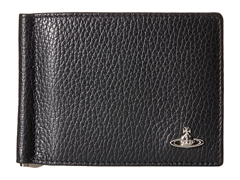 Vivienne Westwood - Leather Money Clip (Black) Wallet